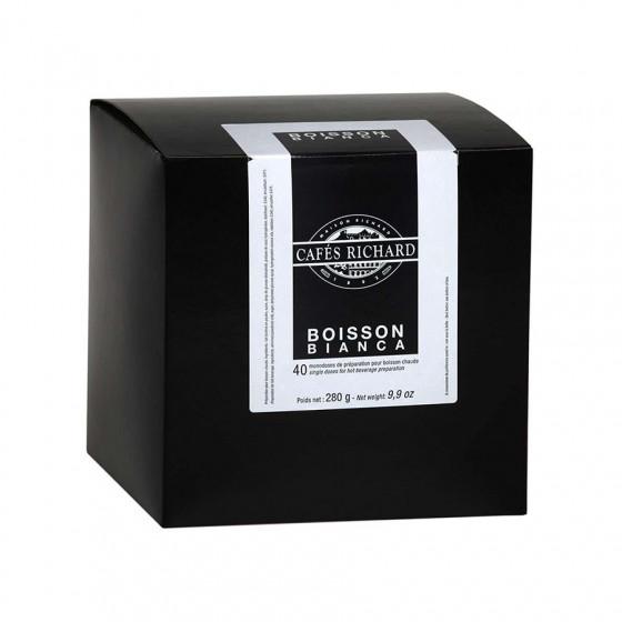 Préparation de boissons chocolatées capsy Bianca x40