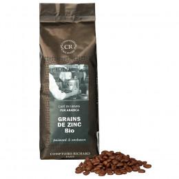 Café Bio en grains Grains de Zinc assemblage de cafés sachet souple 250g