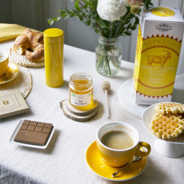 Set de 6 tasses et soucoupes cappuccino Barista assorties