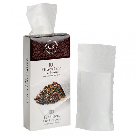 Filtres à thé 1 à 4 tasses biodégradables et sans odeur x 100