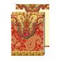 Carnet de notes au motifs rouge et or