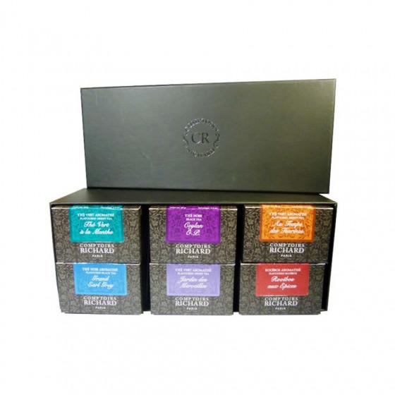 Coffret Découverte 6 boîtes de thés