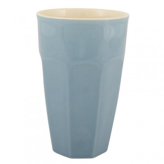 Gobelet à café latte bleuet
