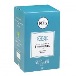 Thé vert Bio menthe Douce Parenthèse à Montorgueil sachets mousseline x20