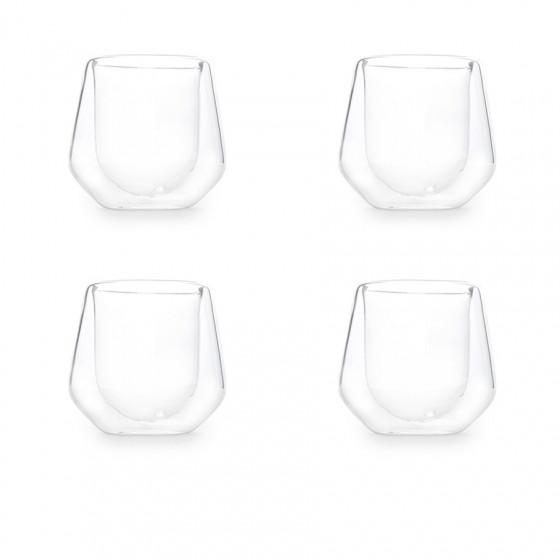 Set de 4 tasses en verre double paroi 26cl