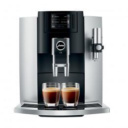 Robot café JURA E8 Platine et 3 paquets de 250g de café en grains et 2 verres expresso Cafés Richard 8cl offerts
