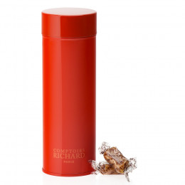 Boîte métal laquée à thé orange garnie de caramel salés 170g