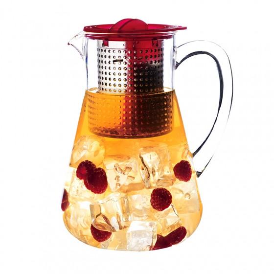 Pichet rouge infuseur à thé Finum 1.8L
