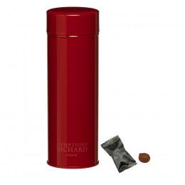 Boîte métal laquée à thé rouge garnie de truffes fantaisies 60g