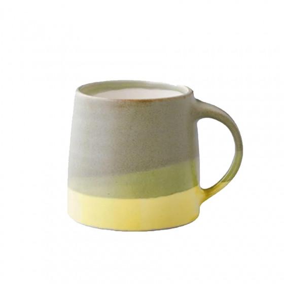 Mug tricolore vert et jaune 32cl