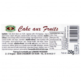 Cake aux fruits 250g