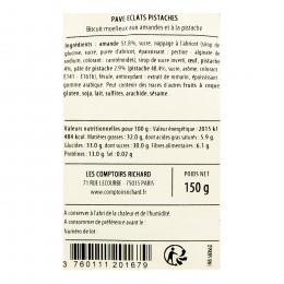 Sachet garni de pavés aux éclats de pistaches 150g