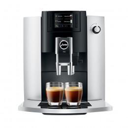 Robot à café JURA E6 Platine + 3 paquets de 250g de café en grains et 2 verres expresso Cafés Richard 8cl offerts