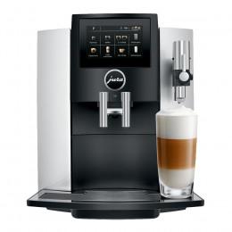 Robot café JURA S8 Silver et 5 paquets de 250g de café en grains et 4 verres double parois Cafés Richard offerts