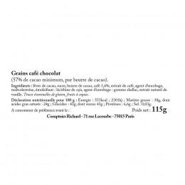 Réglette grain de café au chocolat 117g