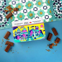 Boîte métal crêpes dentelles chocolat au lait 90g