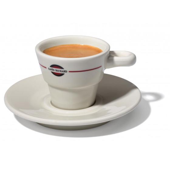 Tasse et soucoupe cappuccino collection Pétale