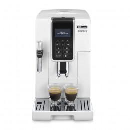 Robot café Delonghi Dinamica FEB 3535.W et 2 paquets de 250g de café en grains et 4 verres expresso Cafés Richard 5cl offerts