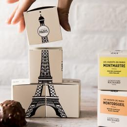Rocher chocolat blanc praliné Montorgueil 45g