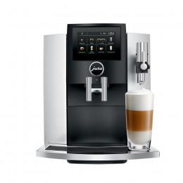 Robot café JURA S8 Moonlight Silver et 5 paquets de 250g de café en grains et 4 verres double parois Cafés Richard offerts