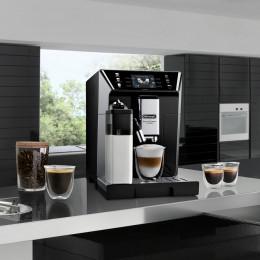 Robot café Delonghi primadonna 550.65 SB et 3 paquets de 250g de café en grains et 2 verres expresso Cafés Richard 8cl offerts