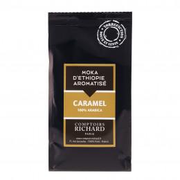Café moulu Moka d'Ethiopie aromatisé au caramel 125g