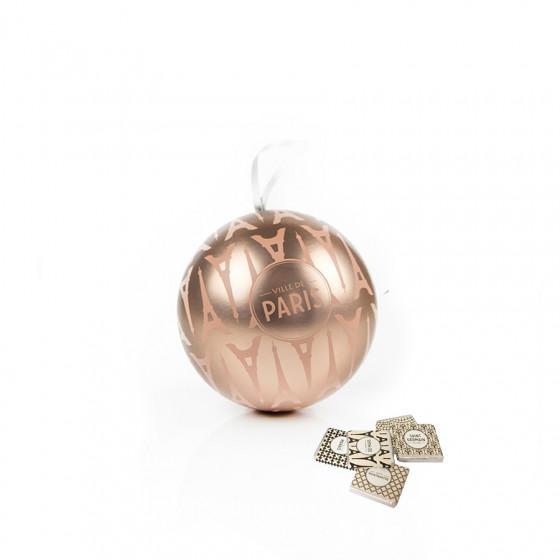 Boule de Noël rose garnie de napolitains 80g