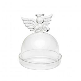 Mini cloche d'assiette cadeau ange