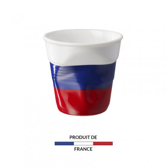 Gobelet froissé expresso drapeau Russie 8cl