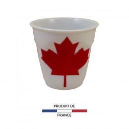Gobelet froissé expresso drapeau Canada 8cl