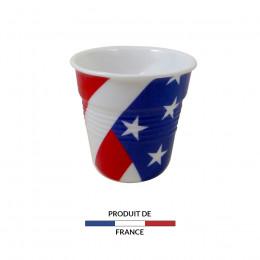 Gobelet froissé expresso drapeau USA 8cl