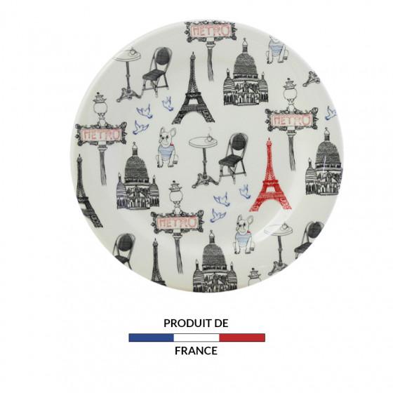 Assiette canapés Tour Eiffel