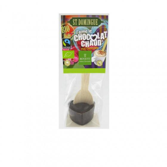 """Cuillère """"J'aime le chocolat chaud noir"""" St Domingue Bio 35g"""