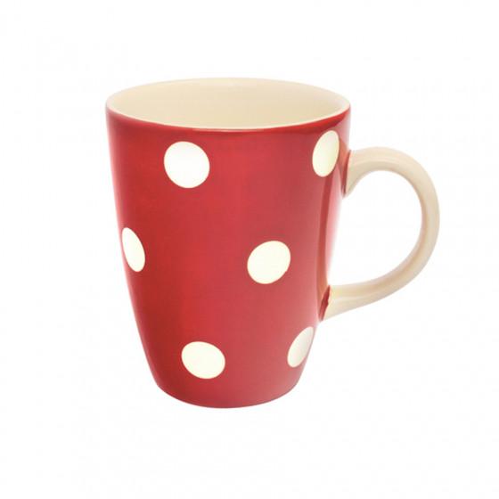 Maxi Mug à pois blancs rouge 40cl
