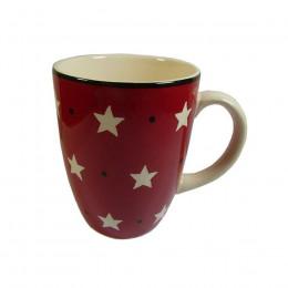Mug motifs étoiles rouge 30cl