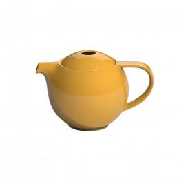 Théière ronde jaune 0.6L
