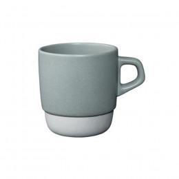 Mug en porcelaine gris empilable 32cl