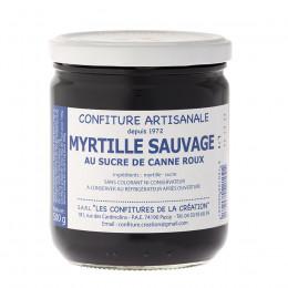 Confiture myrtille sauvage Les Confitures de la Création 500g