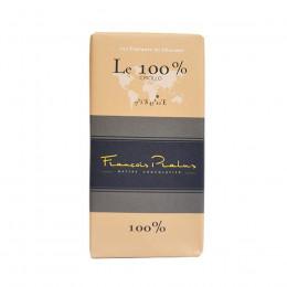 Tablette de pâte de cacao Le 100% noir Criollo 100g