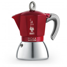 Cafetière italienne Moka induction rouge 6 tasses Bialetti
