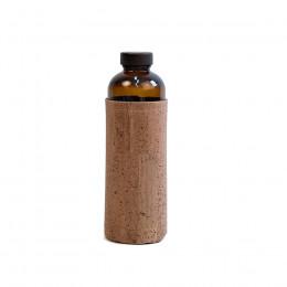Gourde en verre avec housse en liège marron 60cl